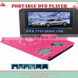 cheap price home kid portable evd dvd player with 3d game tft screen portable dvd player