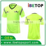 Latest design referee soccer shirts customized football jerseys online youth football jerseys wholesale