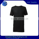 2015 OEM Custom Tshirts Clothes Clothing Shirt Plain Black