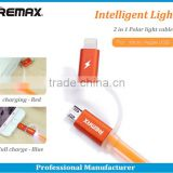 King kong series Remax 2 in 1 Light Speed Usb Cable data cable for iPhone5/6 Samsung galaxy
