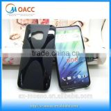Factory price X Line Soft Gel TPU Case Cover For HTC One M9