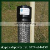 high quality low resistance graphite grounding earthing pole /electrode of transmission lines