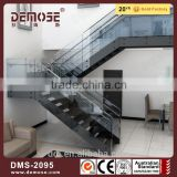 Foshan Demose portable stairs modern stairs with glass staircase railing