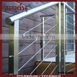 stainless steel outdoor stair railing/stainless steel cable railing systems/railing stainless steel square base flange
