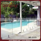 swimming pool fence glass balustrade brass handrail