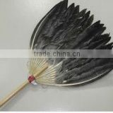 Goose feather hand fan
