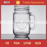 Empty transparent wide mouth glass canning jars with lids                                                                                                         Supplier's Choice