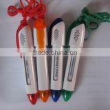 Mini String ball pen with window message on the barrel