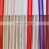 Yiwu supply solid color double face satin edged organza ribbon fabric with gold wire DIY hair accessory