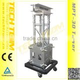 MPT-30 aluminum truss tower /mobile truss tower/ with top pully ,sleeve block ,hinge ,steel base and long outrigger