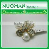flower pearl crystal button for wedding dress