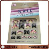 2014 Hot fashion decal art Nail Sticker glitter nail sticker