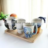High Quality 201-300ml Handmade Marine Animals Cup, Octopus Ceramic Mug,Ceramic Coffee Cup