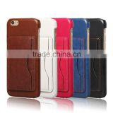 2016 Quality Premium Credit card leather case for iphone 6s Plus
