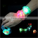 Wholesale Hot Sale Customize Promotion Cheap led bracelet Bar Festival Celebration Acrylic Rainbow Color Flashing Led Bracelets