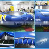 High quality 0.9mm PVC inflatable water trampoline float,exciting jumping trampoline,inflatable water trampolinefor sale