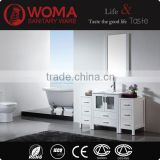 Water Proof Solid Wood Hand Wash Basin White Vanity Bathroom Furniture Wooden cabinet No.3200C