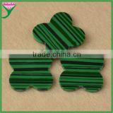 wholesale prices semi precious stone flower shape natural malachite green stone, natural malachite beads