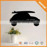 Latest wholesale reusable black car wall sticker