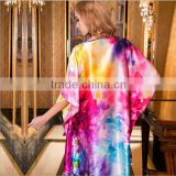customized patterned fashion women 100% silk sleepwear