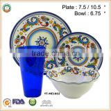 TOP QUALITY!!!100% Melamine Tableware Set /Melamine Plate & Bowl Set SGS/ FDA approval