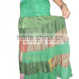 2347 silk skirt Magic Wrap Skirts sari tyre skirts