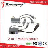 CCTV Camera Accessories Audio Video Balun Transceiver BNC UTP RJ45 Video Balun with Audio