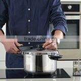 7L Aluminium Ectra-Heavy Soft Anodized Double Handle Stainless Steel Gas Low Pressure Cooker
