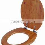 Carbonized Bamboo Toilet Seat Cover with Customized Hinges