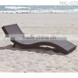 Synthetic Rattan Beach Chaise Sun Lounger Alu frame with powder coated