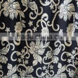 Black Ground and White Print Design Plain Style ks Suits Velvet for Women