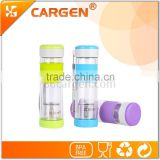 Promotional leisure glass tea infuser water bottle