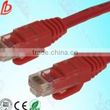 4 pairs utp cat5e network patch cords with 8p8c RJ45 crystal connectors,24/26AWG utp network cables