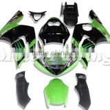 Green Black Fairing Kits for Kawasaki Ninja ZX6R 2003 2004 ZX 6R 03 04 ABS 100% Injection Mold Body Kits