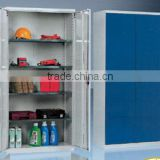 China factory iso certificate iron locker shelf, garden cabinet,flammable storage cabinet