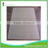 Brown border bamboo mats