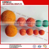 High quality rubber sponge cleaning ball for pipeline cleaning for concrete pump equipment