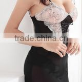 Sexy lingerie temptation to suit bud silk condole belt nightgown household deep v pajamas