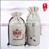 Cotton Drawstring Pouch Storage Bag cotton drawstring round custom double canvas bag small bag sack