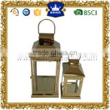 Ornate gold metal stainless steel lantern/candle holder SSL3074-SM