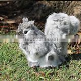 Real Size Realistic Taxidermy Figurine Stuffed Furry Animal Grey Squirrel