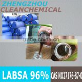 [2015 GO ! ] CAS No.:27176-87-0 96% labsa linear alkyl benzene sulphonic acid labsa 96% sles 70%