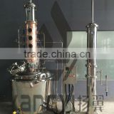 stainless steel alcohol distiller with copper distillation column beer brewing equipment