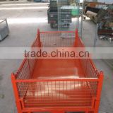 collapsible pallet steel crate wire mesh box