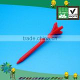 Solid color red new design biodegradable environmental friendly bulk PLA plastic golf tee
