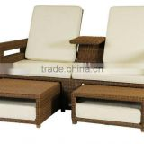 2017 philippine bamboo furniture popular rattan wicker double seat