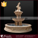 Elegant outdoor large stone marble woman water fountain