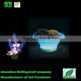 Wholesale solar powered modern beautiful LED fruit plate with 16 colors change for bar/KTV/event