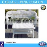 Outdoor poly rattan furniture woven wicker chair coffee table set