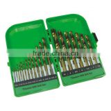 DIN338 titanium hss twist drill set in durable case